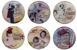 Bottle Cap Inc. Vintage Collection Epoxy Stickers - Nostalgic 1